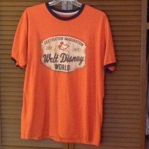Vintage Walt Disney World Ringer Tee Orange Mickey